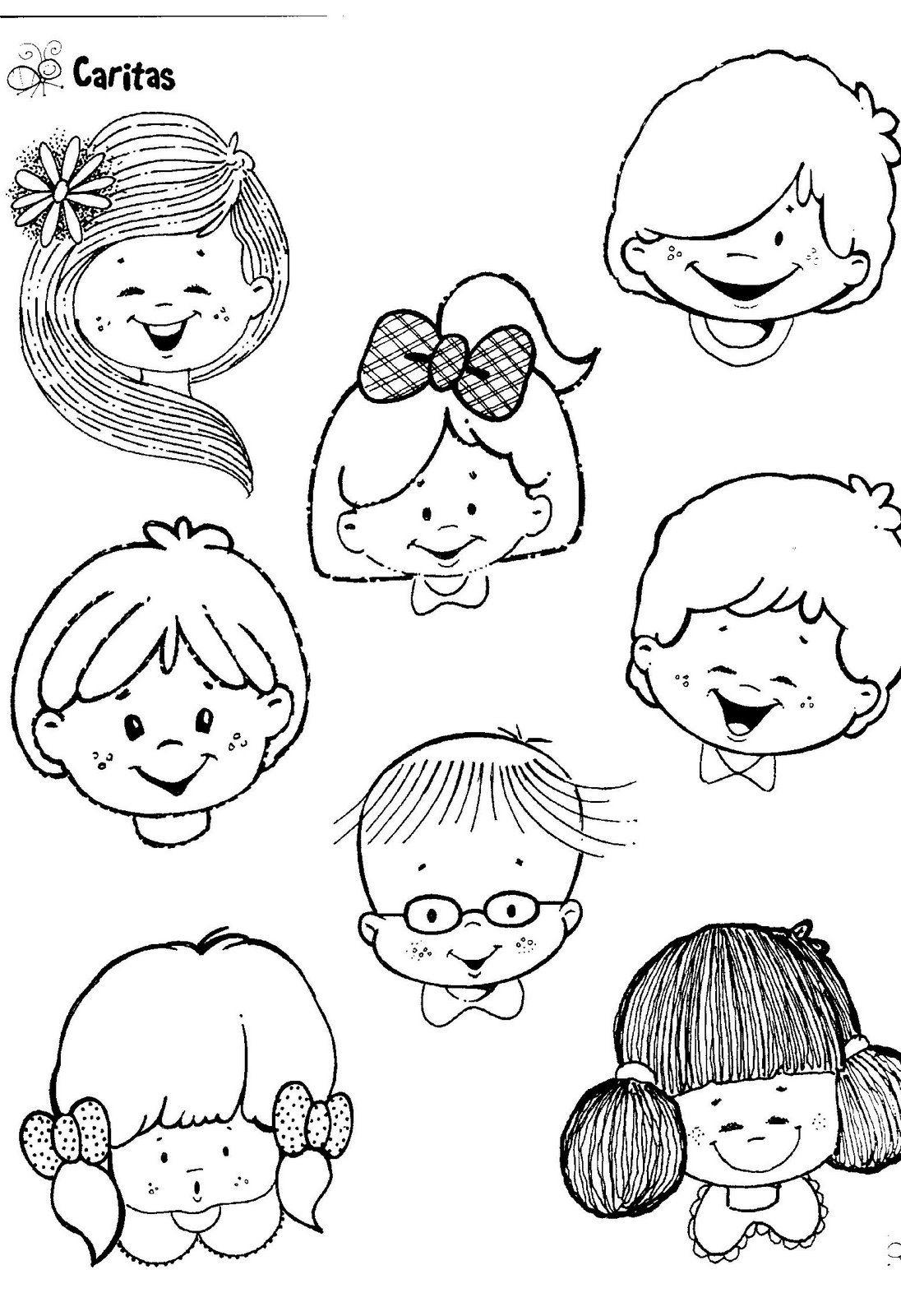 Dibujo De Caras Alegres Para Descargar   Ojos Y Cariras   Drawing in Dibujos De Campos Sin Pintar De Preecolar