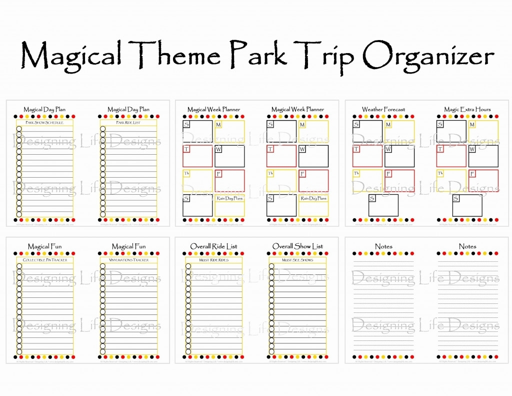 Disney World Vacation Planner Template Fresh Planning Trip with regard to Disney World Printable Planning Sheets