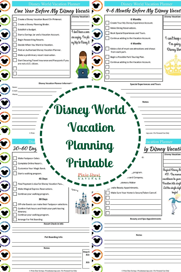 Disney World Vacation Planning Guide + Free Disney Planning Printables | pertaining to Disney World Printable Planning Sheets