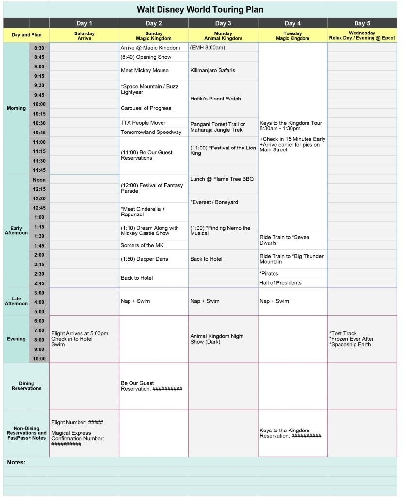 Disneyland Itinerary Template For Mac | Template Calendar Printable inside Disneyland Itinerary Template For Mac