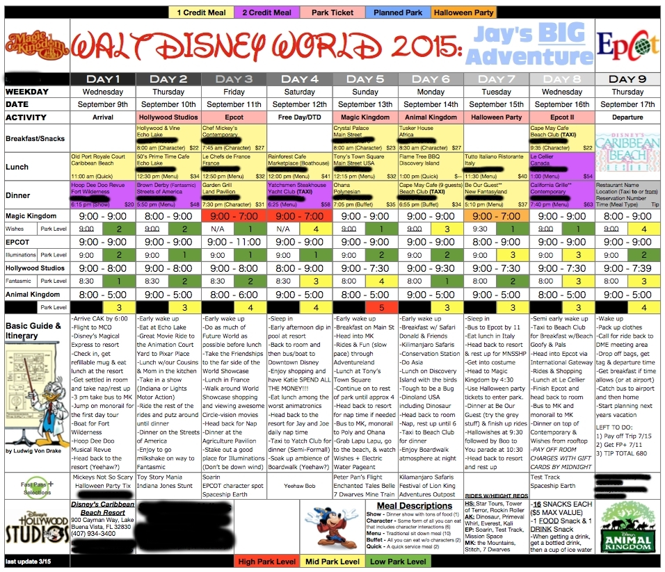 Disneyland Itinerary Template For Mac | Template Calendar Printable intended for Disneyland Itinerary Template For Mac