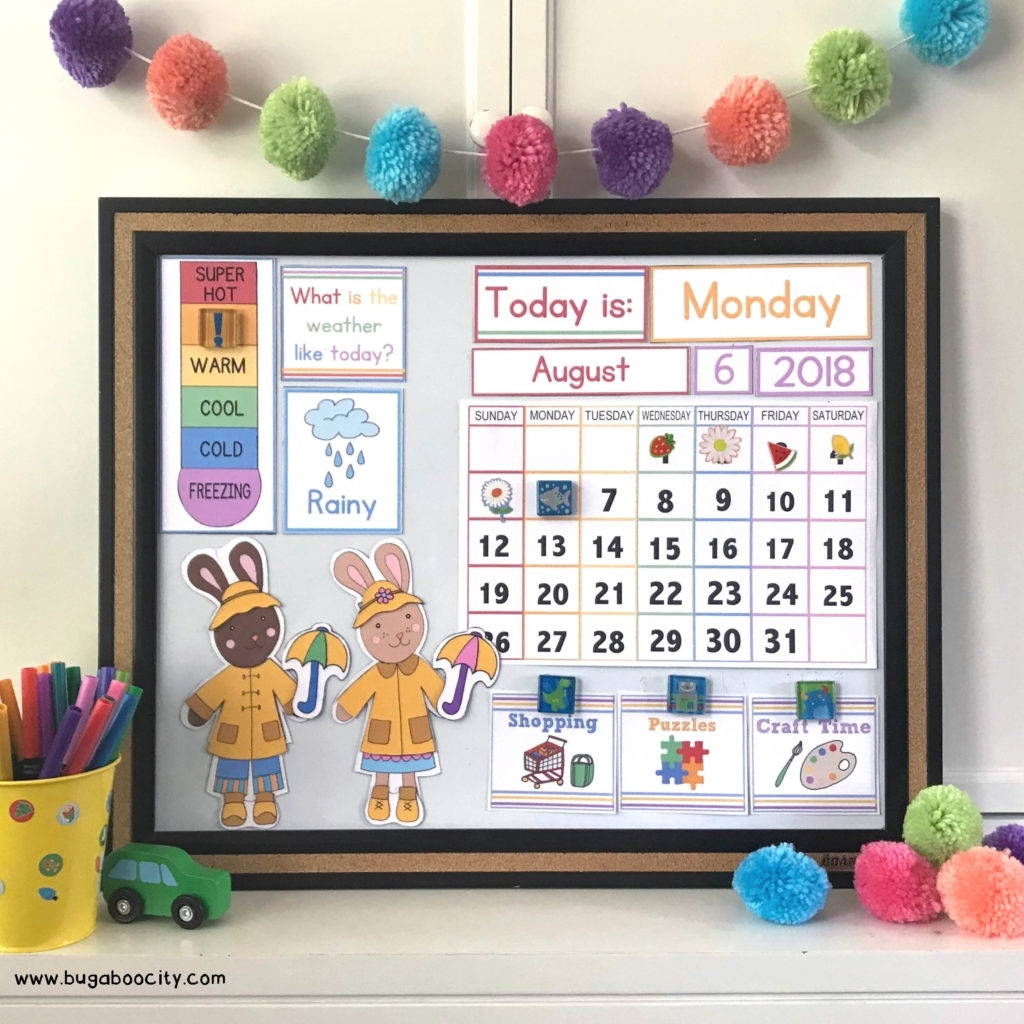 Diy Children's Calendar With Free Printables - Bugaboocity with Birthday Calendar Montessori For Print