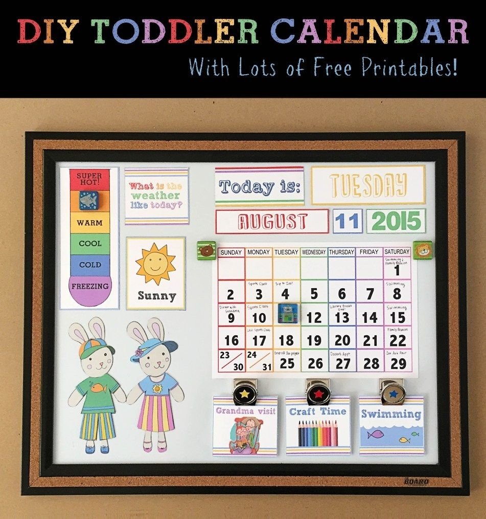 Diy Toddler Calender - Magnet Board - Lots Of Free Printables for Birthday Calendar Montessori For Print