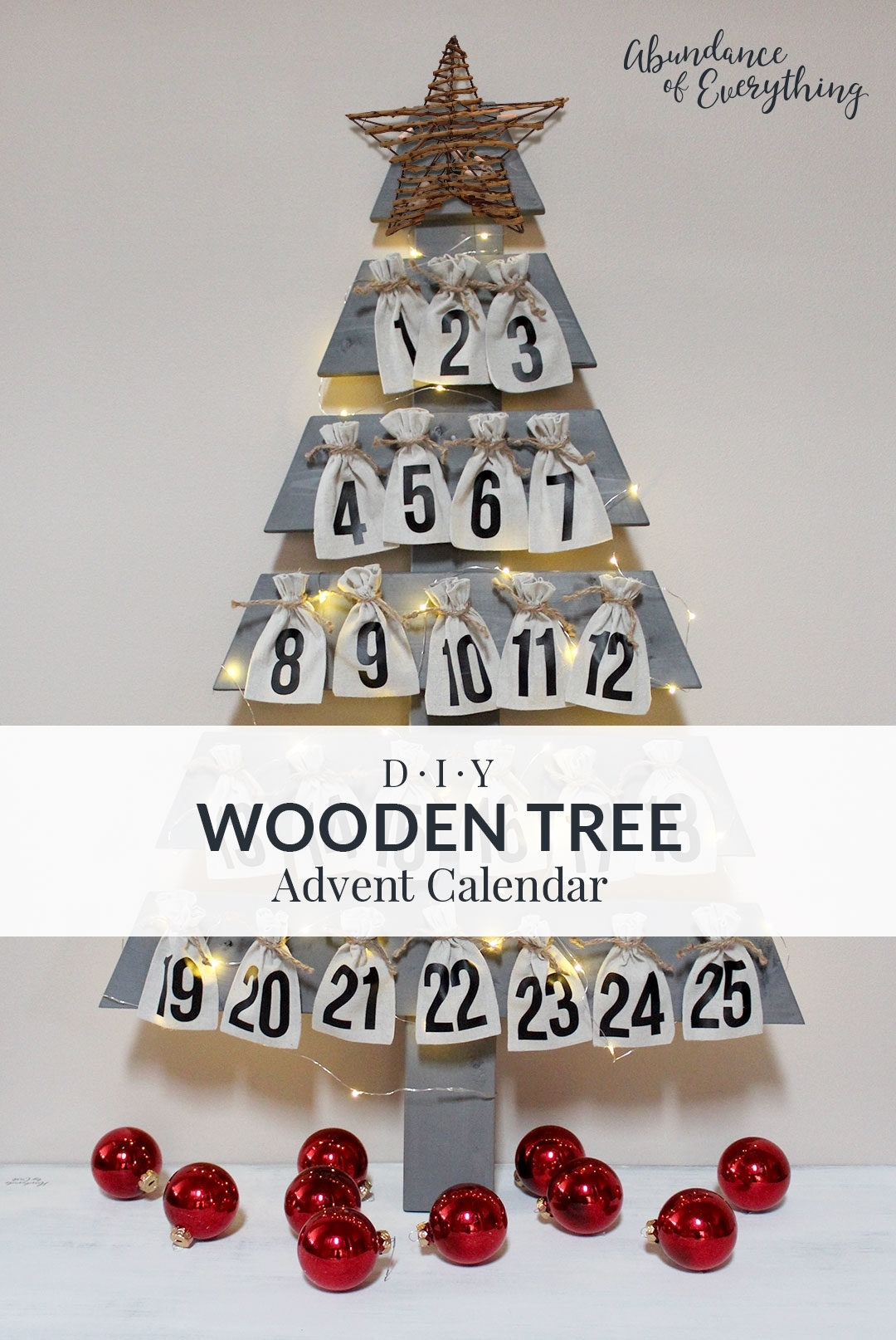 Diy Wooden Tree Advent Calendar - Abundance Of Everything in Create An Advent Calender Wooden