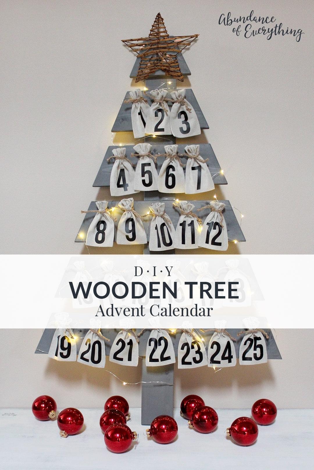 Diy Wooden Tree Advent Calendar - Abundance Of Everything in Create An Advent Calender Wooden