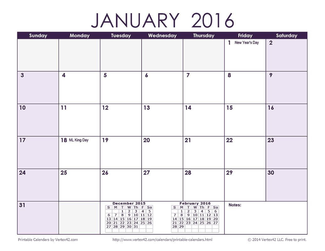 Download A Free 2016 Monthly Calendar - Purple From Vertex42 with Editable 2015 Monthly Calendar Template