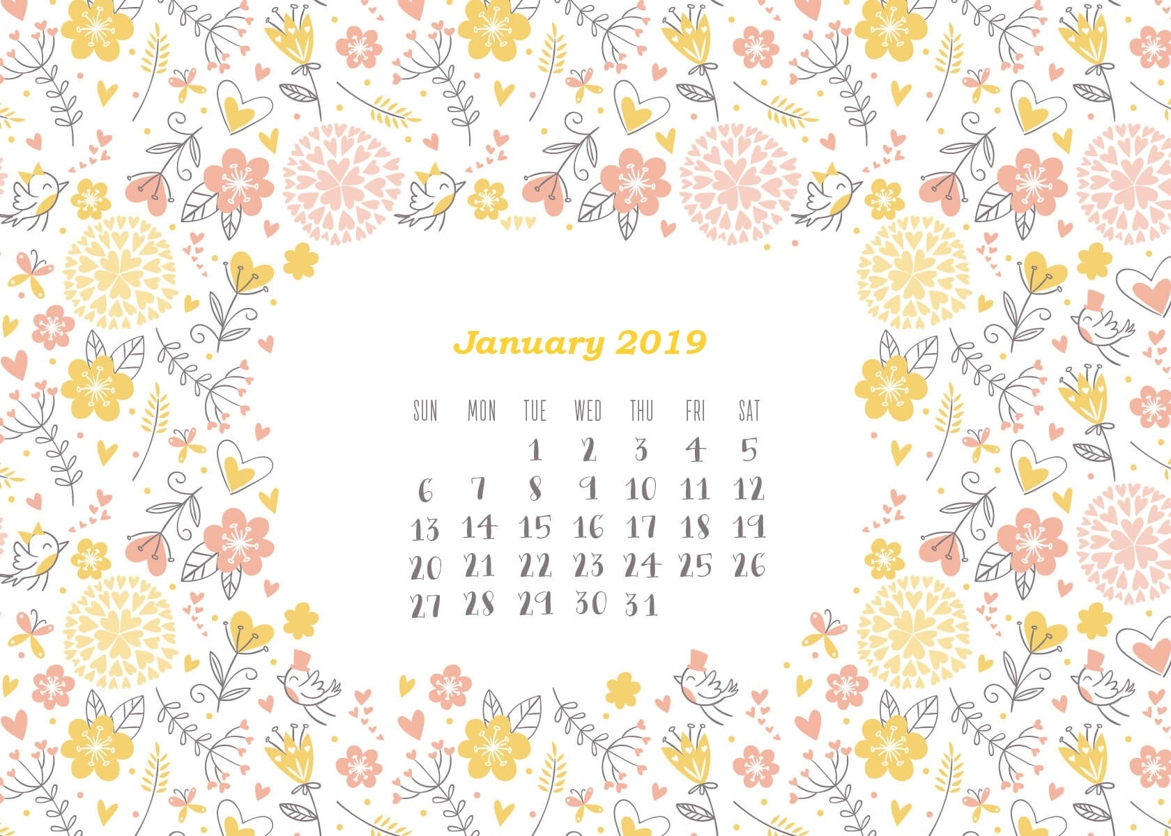 Download January Wallpaper (58+) - Free Wallpaper For Your Screen. with regard to Calendars For January Background Designs