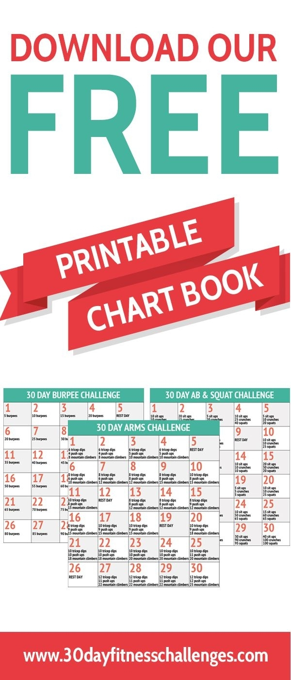 Download Our Free Printable 30 Day Fitness Challenge Chart Booklet for 30 Day Fitness Challenges Printable Charts
