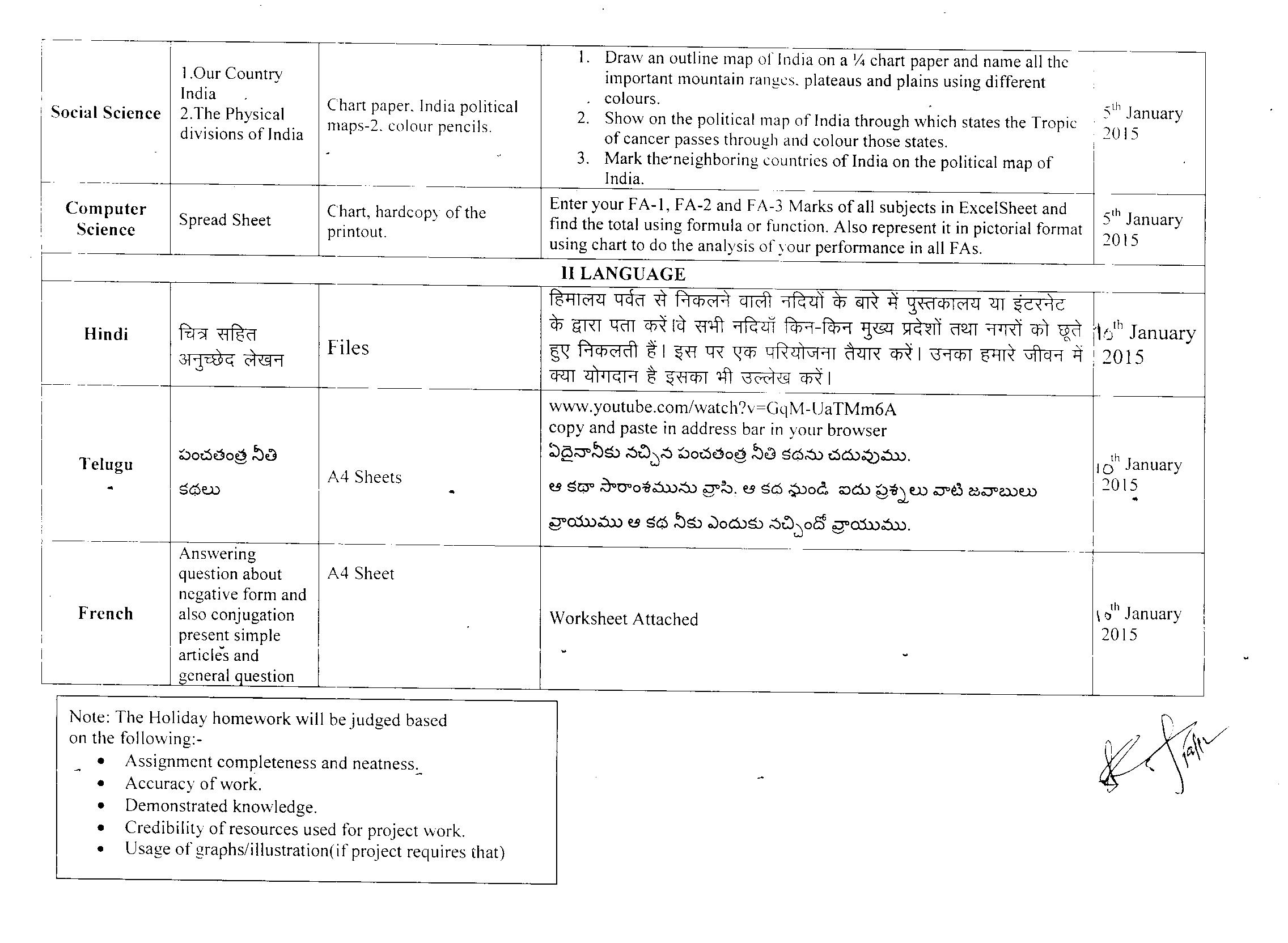 Drs International School within Holiday Hw For Grade 1