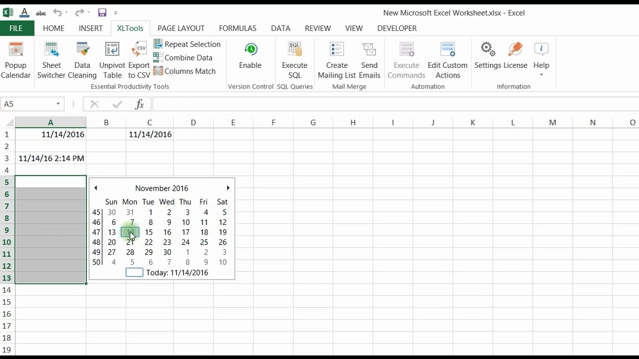 Easily Insert And Edit Dates In Excel With The Popup Calendar - Youtube with regard to 48 48 A B Schedule Layout