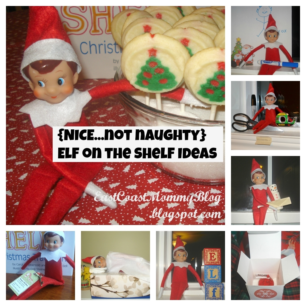 East Coast Mommy: 20 Nice {Not Naughty} Elf On The Shelf Ideas intended for 12 Month Photo Calendar Ideas Naughty