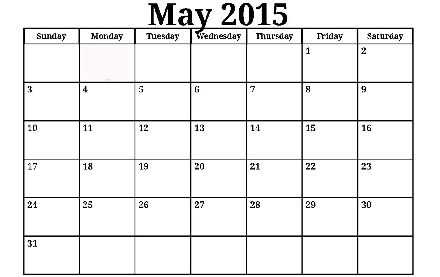 Editable 2015 Calendar Template. 2015 Monthly Calendar Editable regarding Free Printable Monthly Calendar Editable
