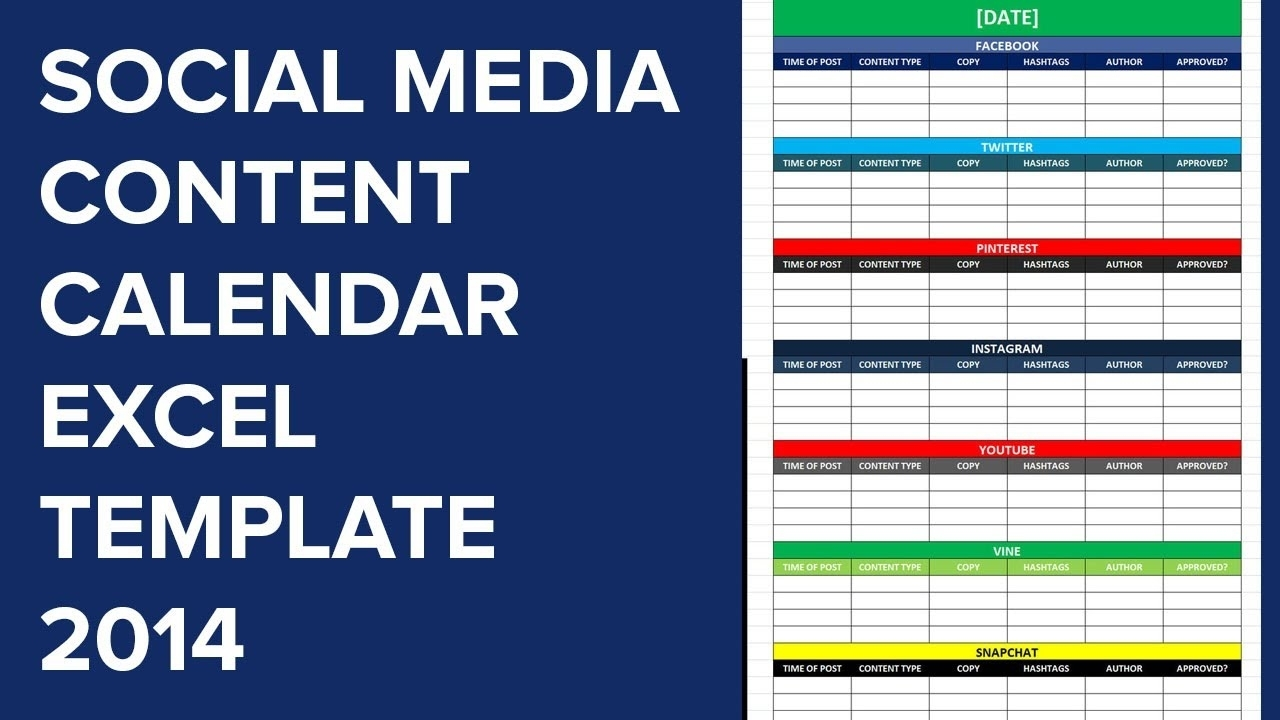 Editorial Plan Template Social Media Dar Templates Excel Marketing for Social Media Content Calendar Excel Template Free
