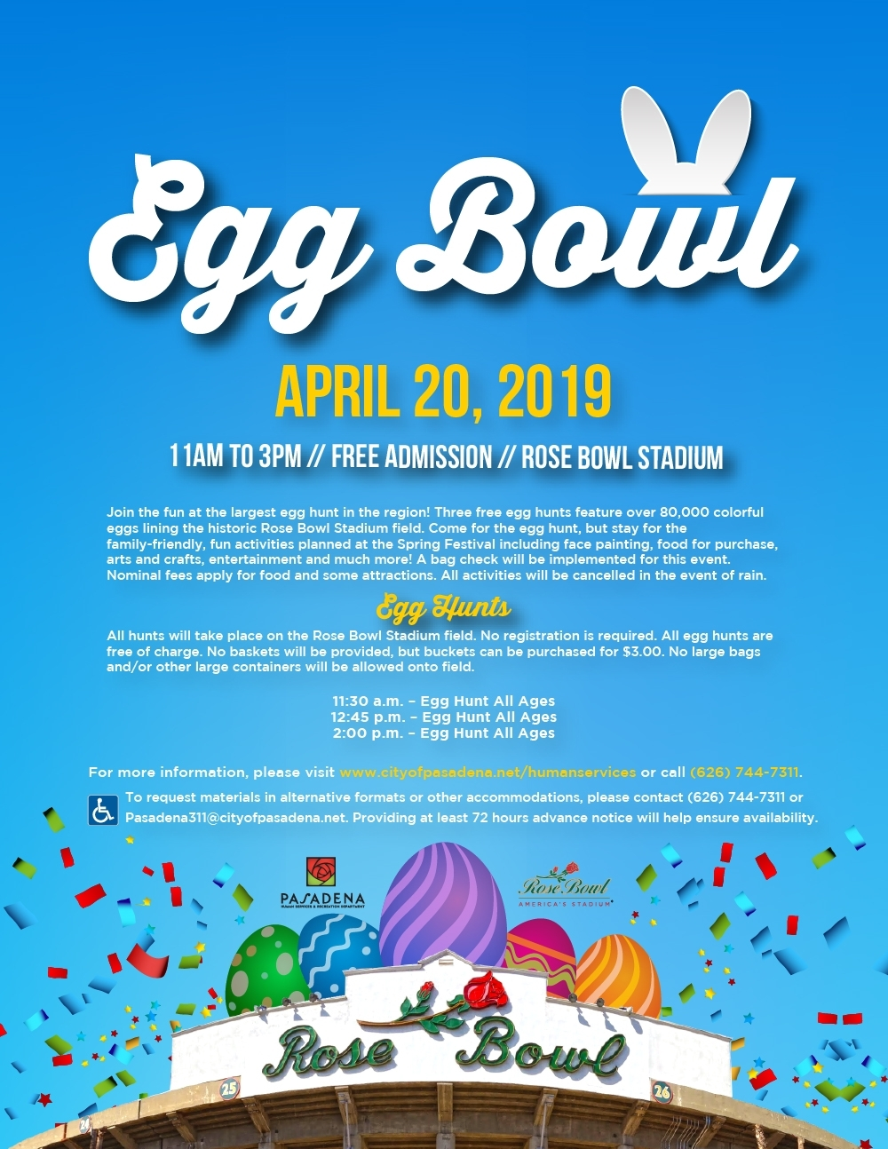 Egg Bowl – Human Services & Recreation Department throughout Graphic Organizer For Schedule From Monday To Sunday 5 Am To 9 Pm