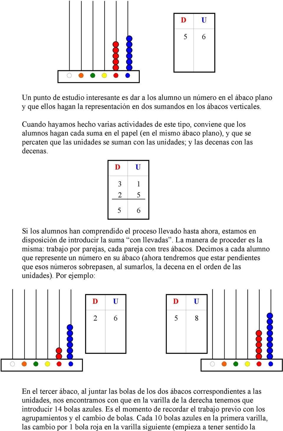 El Ábaco. Descripción. Para Qué Sirve? - Pdf with Operaciones Con El Abaco Suma