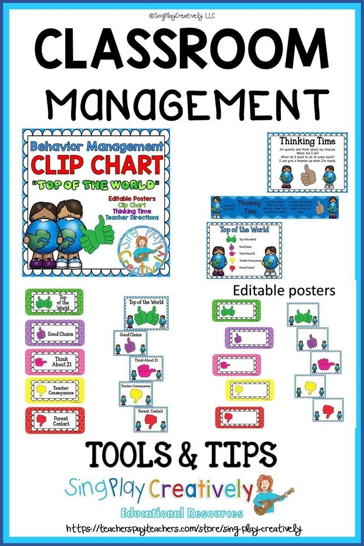 Elementary Behavior Chart And Classroom Management Plan And Editable pertaining to Conducut Chart For Play School