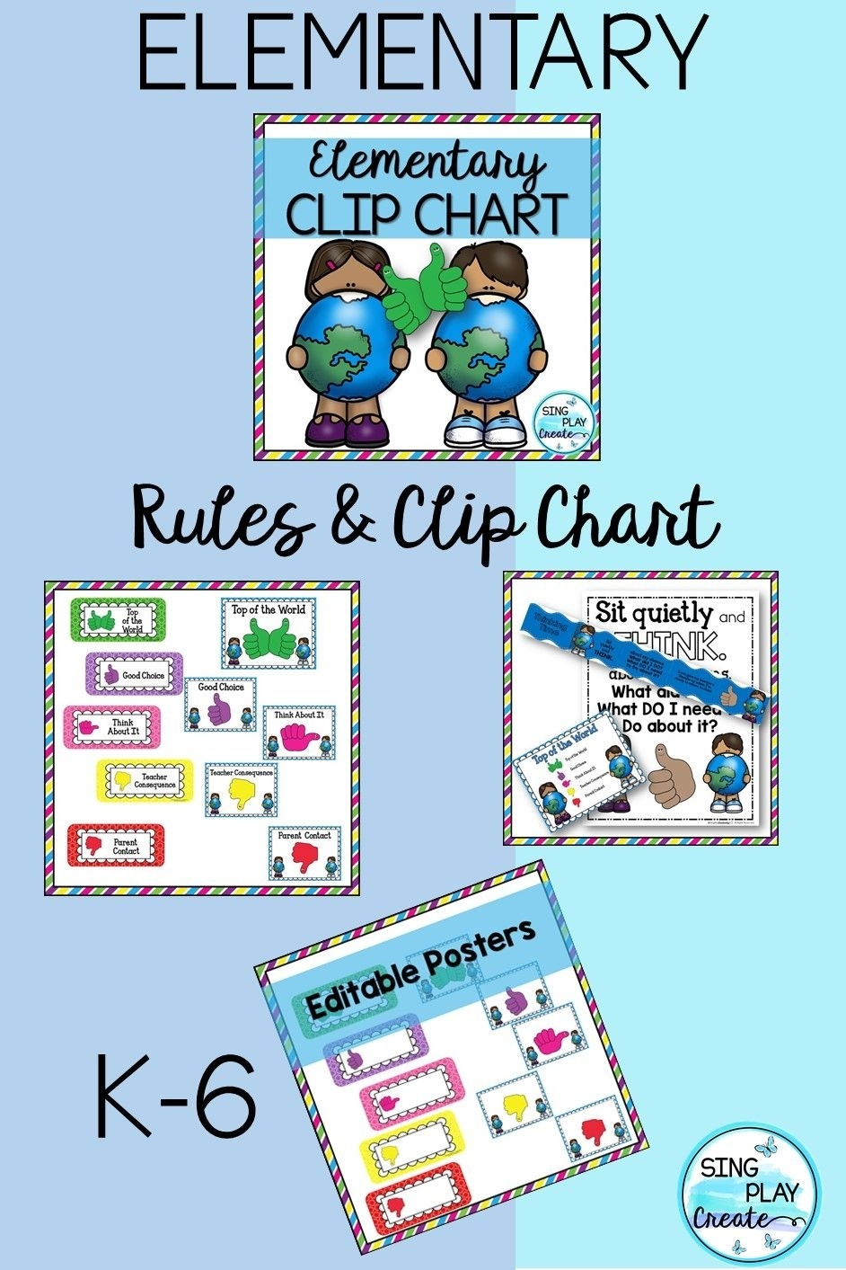 Elementary Behavior Chart And Classroom Management Plan And Editable with regard to Conducut Chart For Play School