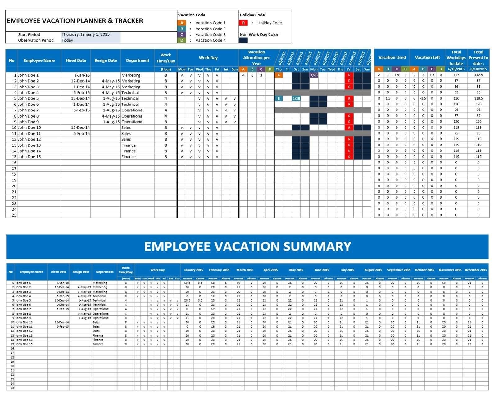 Employee Attendance Calendar Excel Template - Google Search | Mgmt throughout Excel Employee Attendance Calendar Template