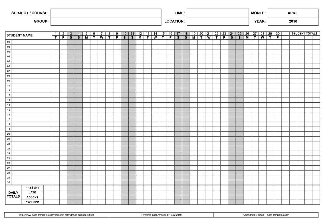 Employee Attendance Point System Spreadsheet Examples Calendar Excel intended for Free Printable Employee Attendance Calendars