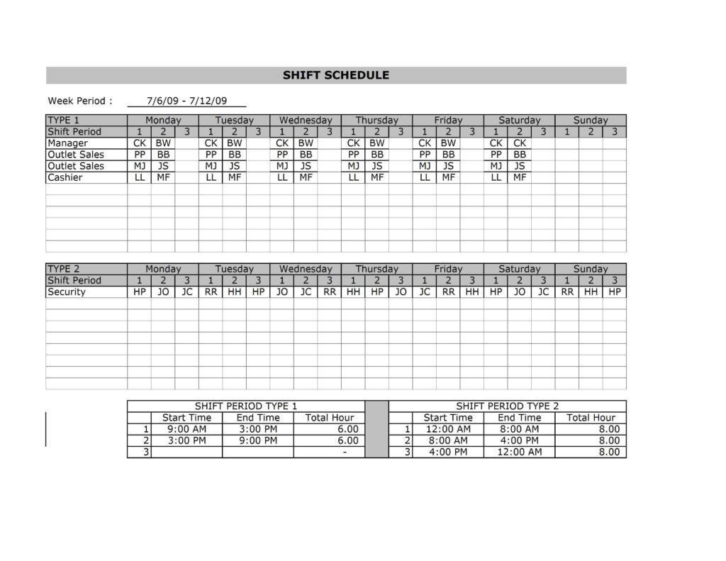 Employeehiftchedulingpreadsheetnap Schedule Employee Scheduling with Emplyee Schedule Template Starting Friday