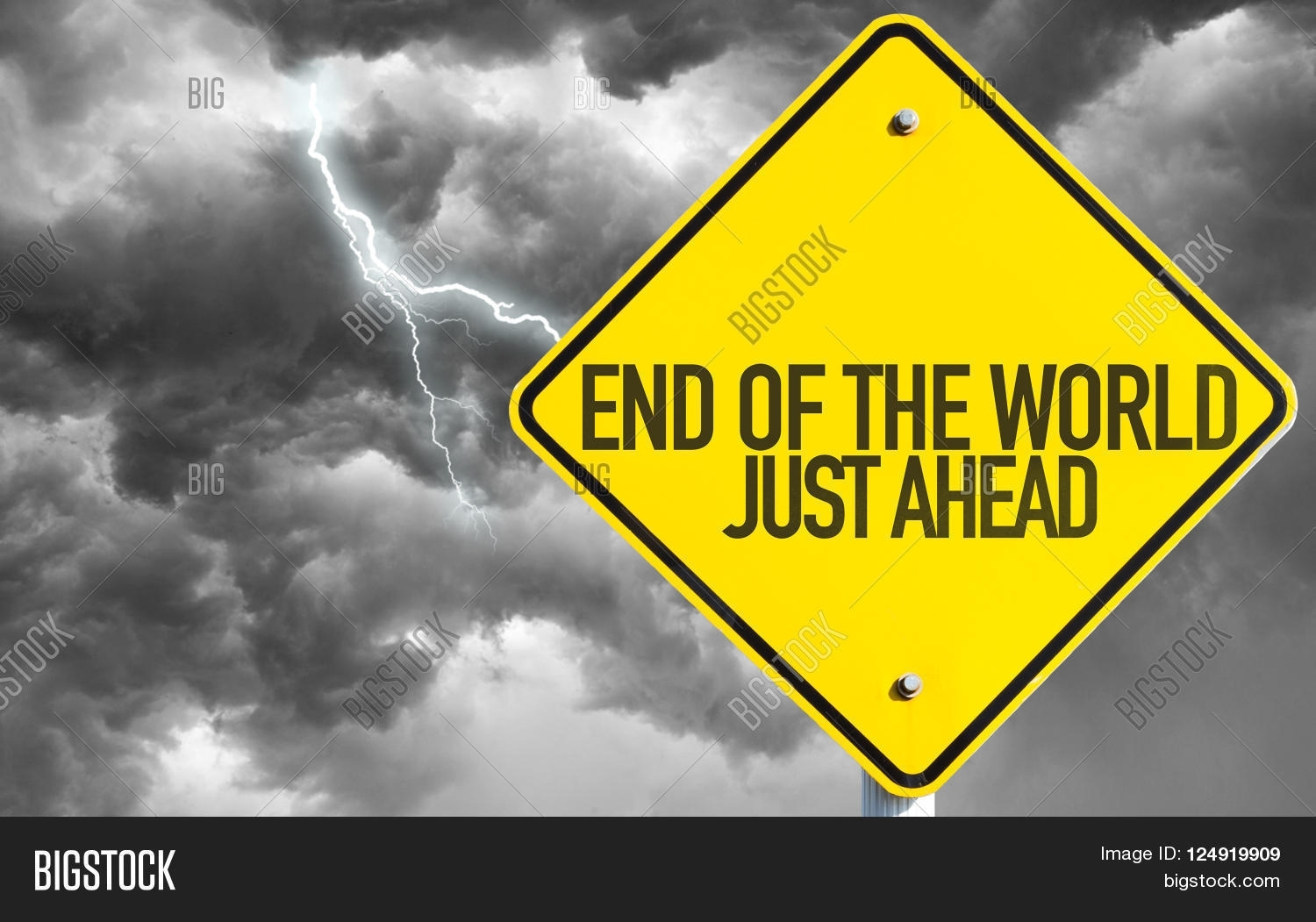 End World - Just Ahead Image & Photo (Free Trial) | Bigstock in What Day Is The End Of The World On