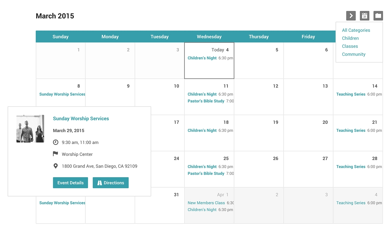 Event Calendar Template Church Events Calendar And Categories For intended for Template For An Event Calendar