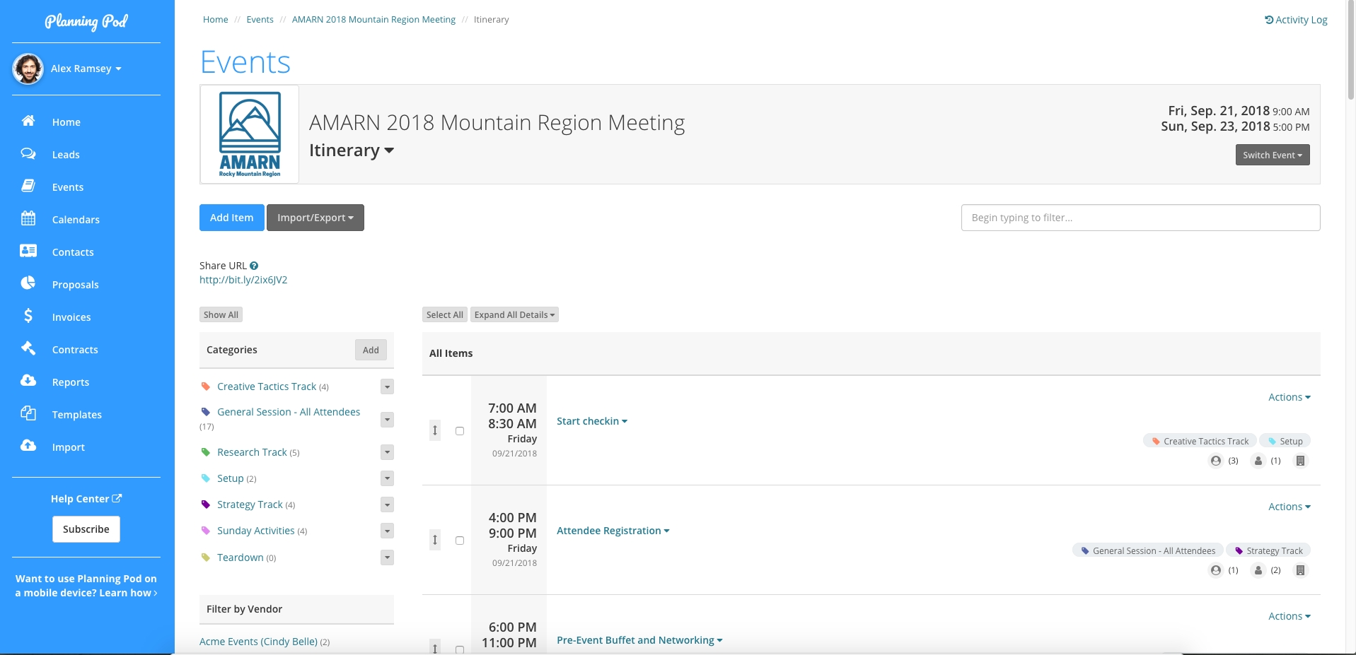 Event Itinerary / Schedule Builder @ Planning Pod - Create A with How To Detailed Event Scheduled