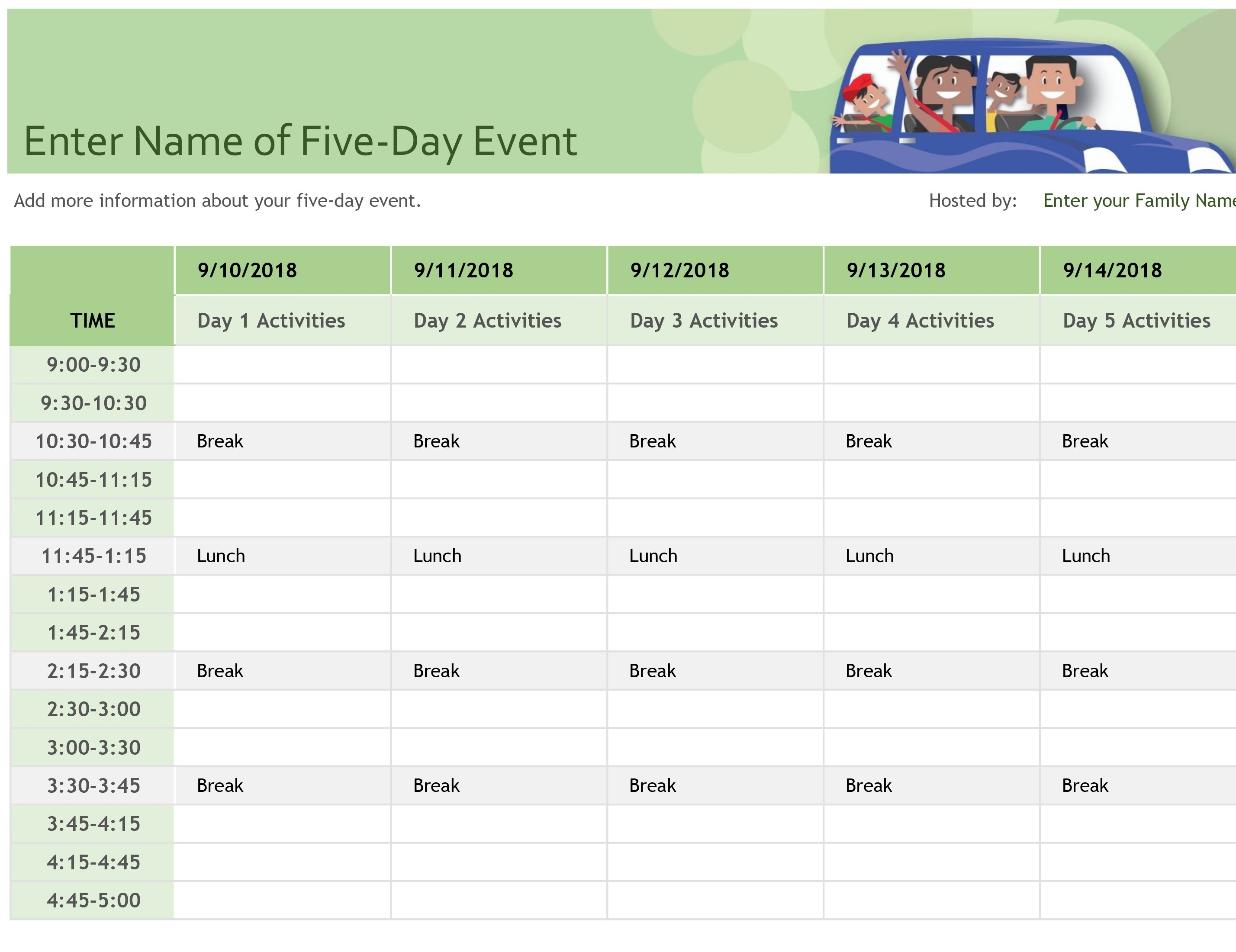 Event Le Template Excel Checklist Free Calendar Planner Spreadsheet in Event Guest List Template Excel