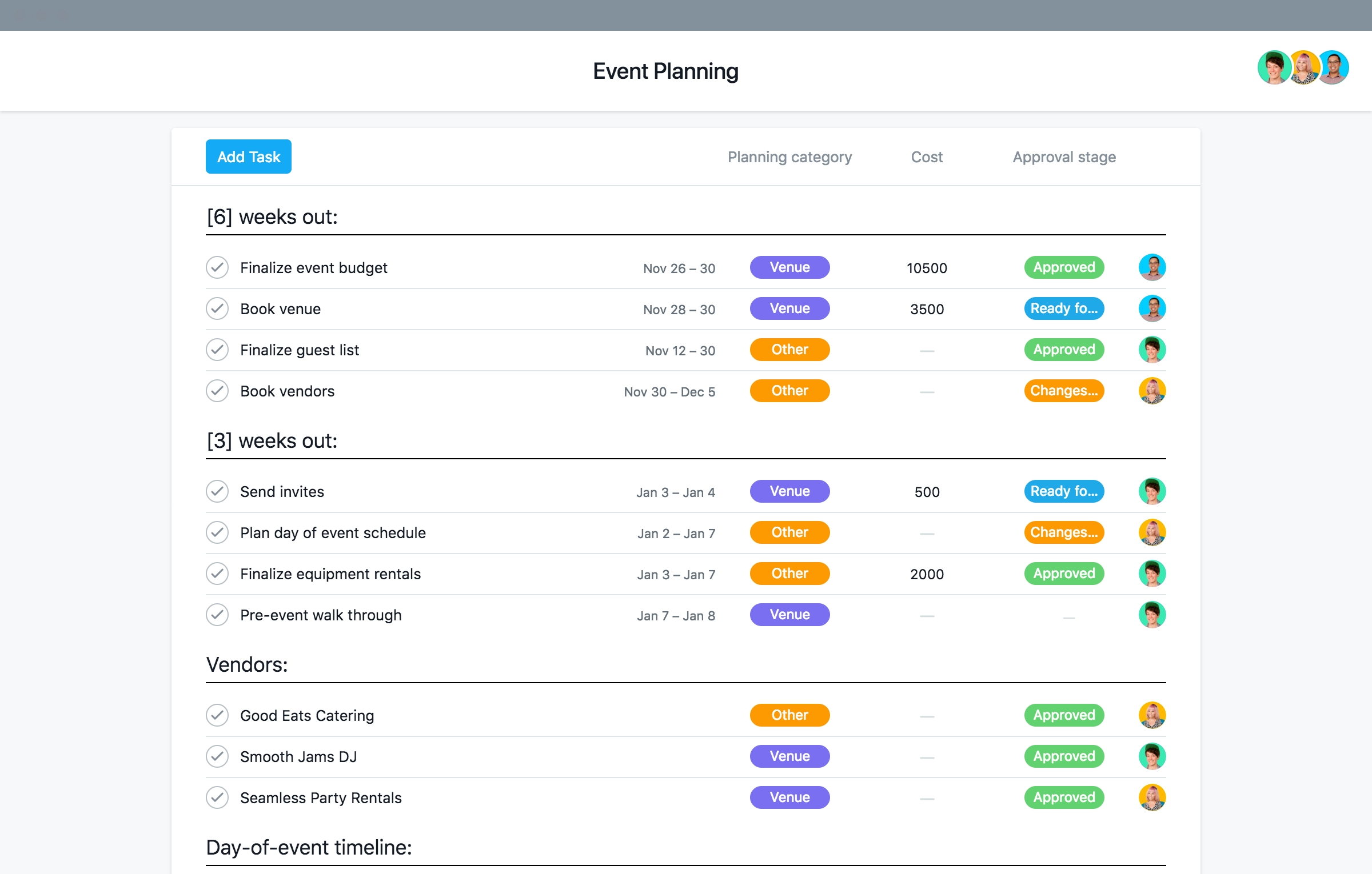 Event Planning Template With Checklists And Timeline · Asana regarding Corporate Event Planning Checklist Template