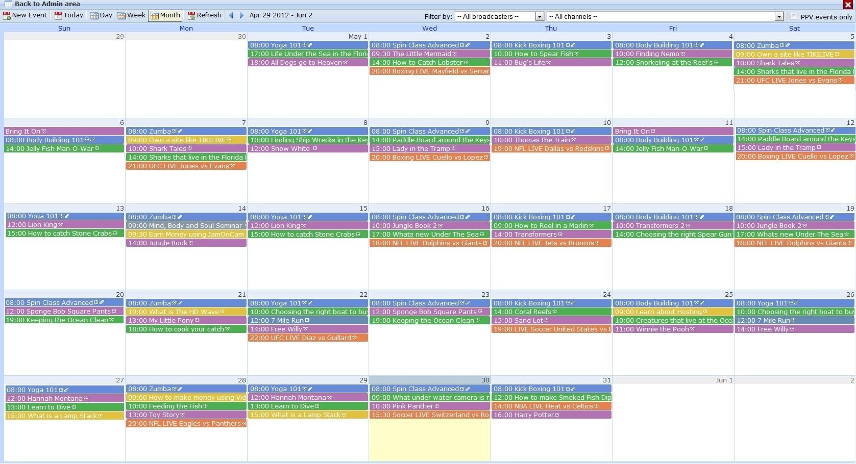Event Scheduler regarding Set Up An Event Calendar