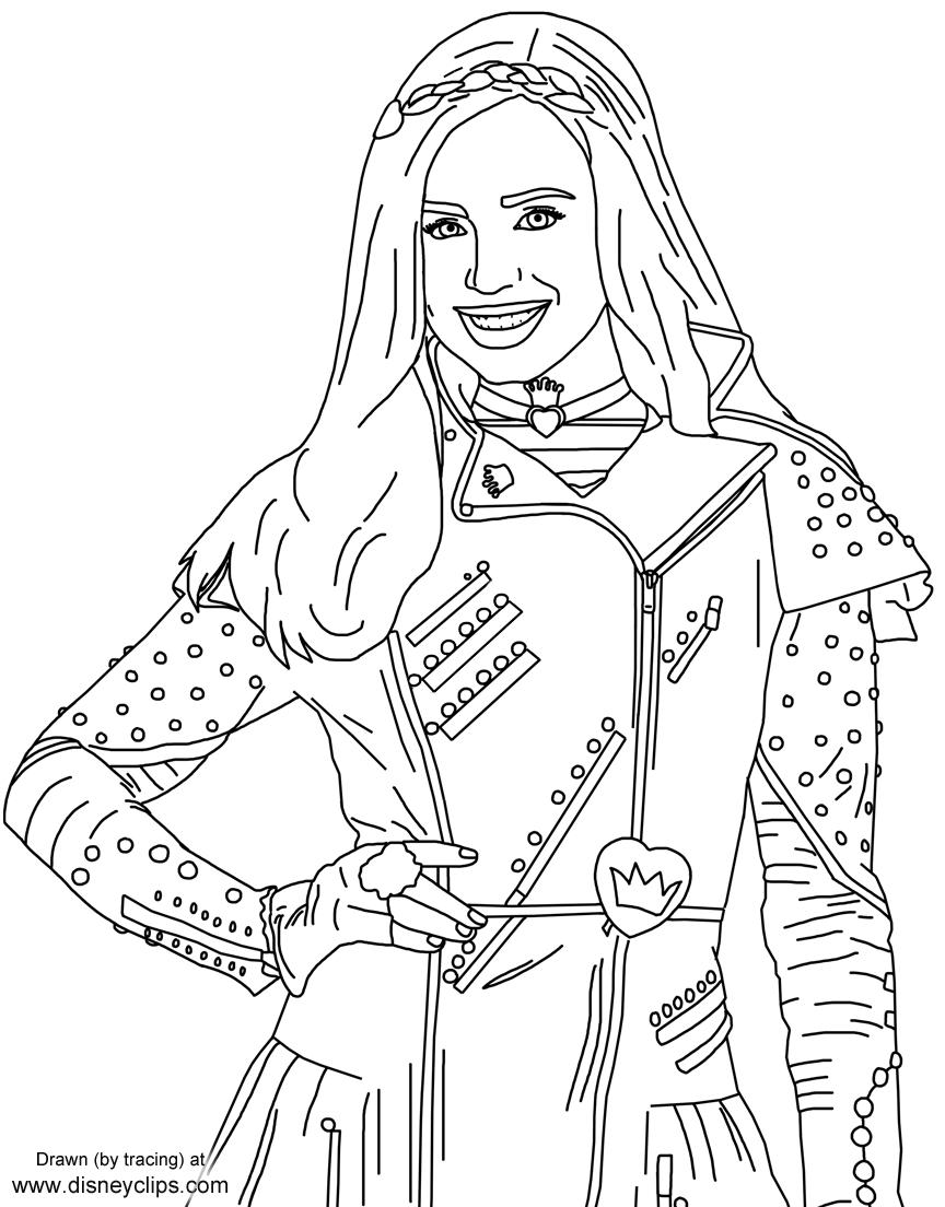 Evie From Disney's #descendants | Free Printables | Disney Coloring within Free Printables Of Descesdants 2