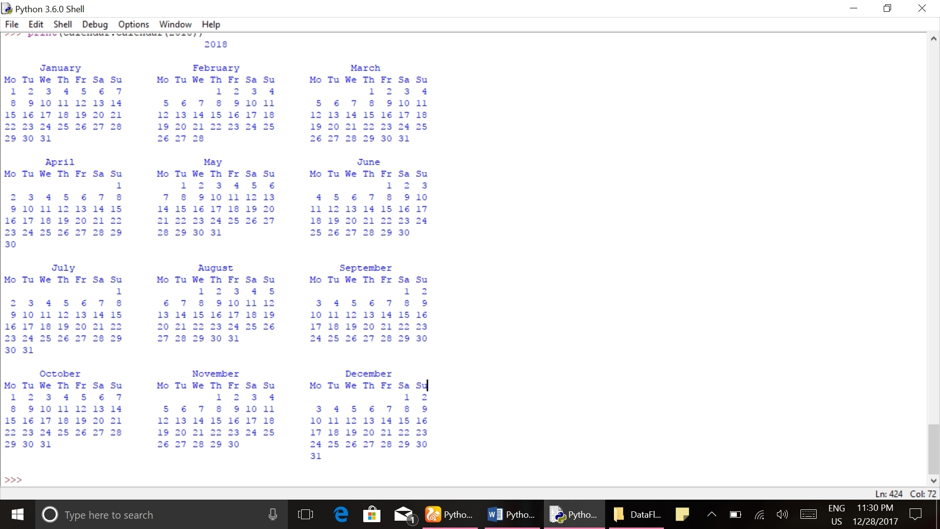 Example Of Calendar Month Python 3 | Template Calendar Printable within Example Of Calendar Month Python 3