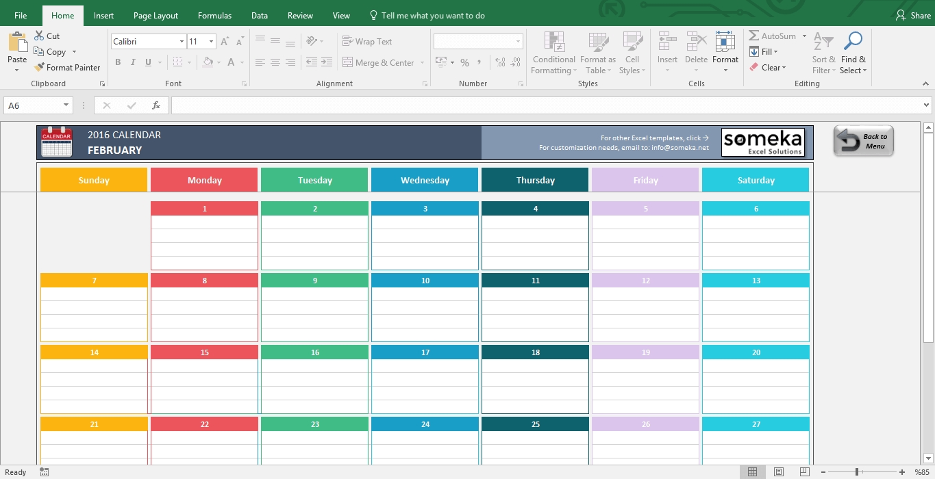 Excel Calendar Template 2019 - Free Printable Calendar within 12 Month Training Calendar Template