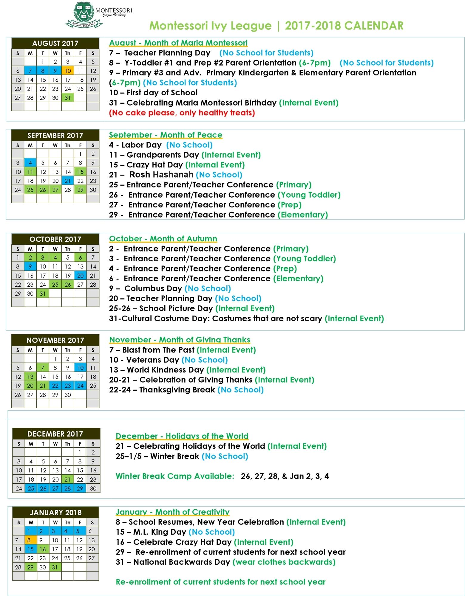 Extraordinary Re 1 School Calendar • Printable Blank Calendar Template regarding Birthday Calendar Montessori For Print