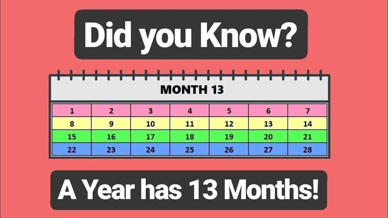 """🔴 There Are """"13 Months In A Year""""!! The Only True Calendar In The regarding Calendar Months Of The Year"""