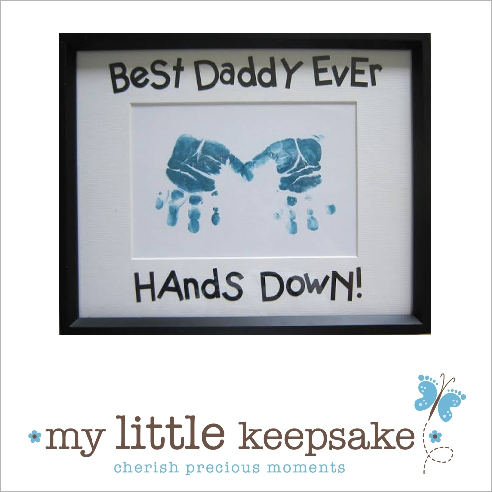 Father's Day Hand & Footprint Ideas - My Little Keepsake in Handprint Footprint With Siblings Ideas