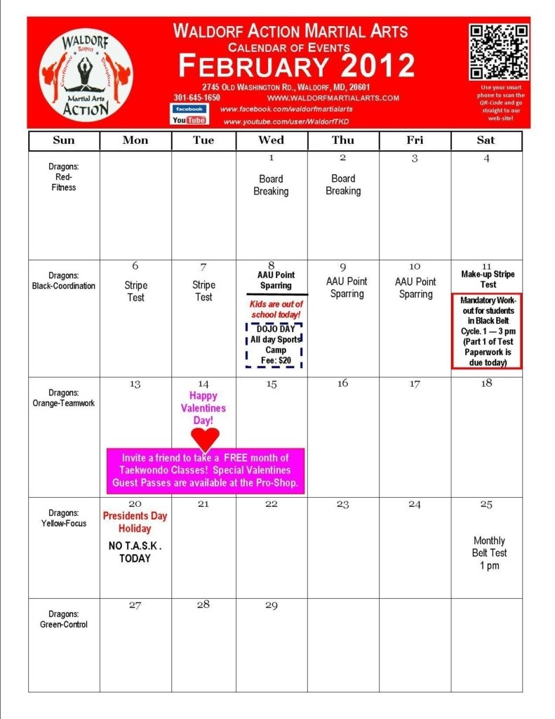 February 2012 Calendar Of Events | Thegioithamdep inside 2012 Calendar Sri Lanka With All Holidays