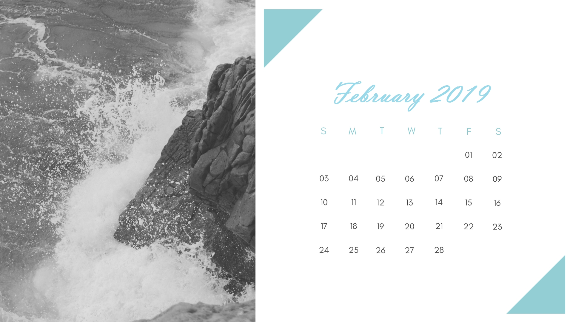February 2019 Nature Beauty Calendar Templates | Monthly Calendar in Calendar Prints Related To Beauty Of Water