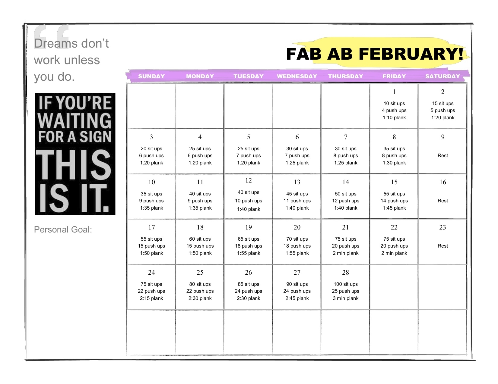 February's Monthly Challenge! | throughout Calendar Of February Month Of 100 Years
