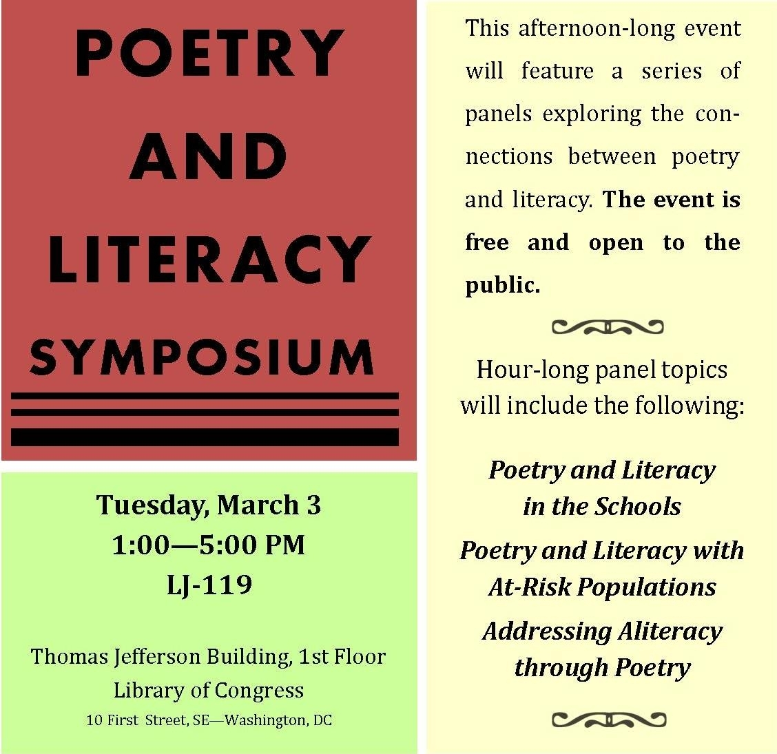 Fighting For Literacy, Through Poetry   From The Catbird Seat intended for Short Poem O Calender Images