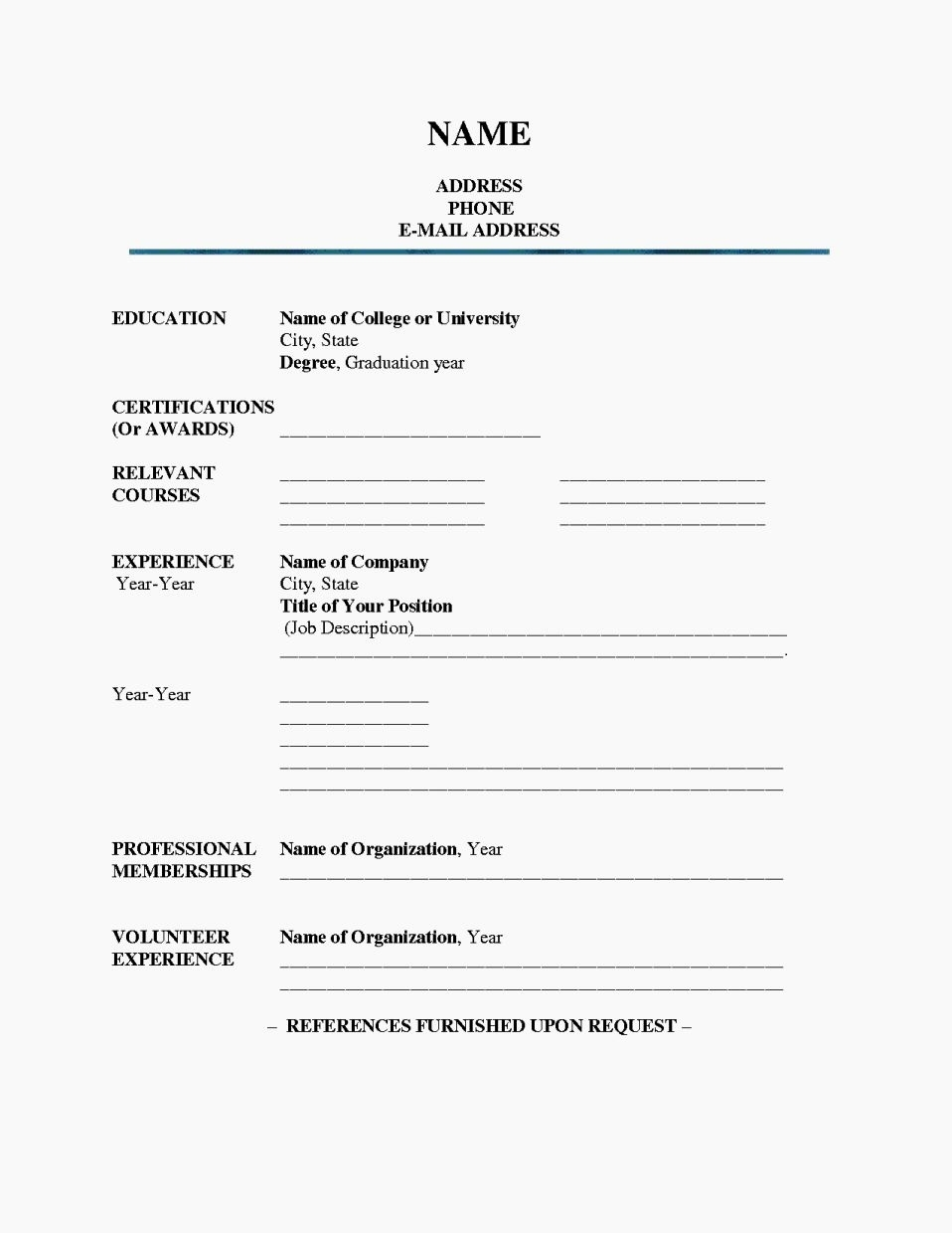 Fill In The Blank Resume Pdf Or Fill In Blank Printable Resume regarding Fill In The Blank Template