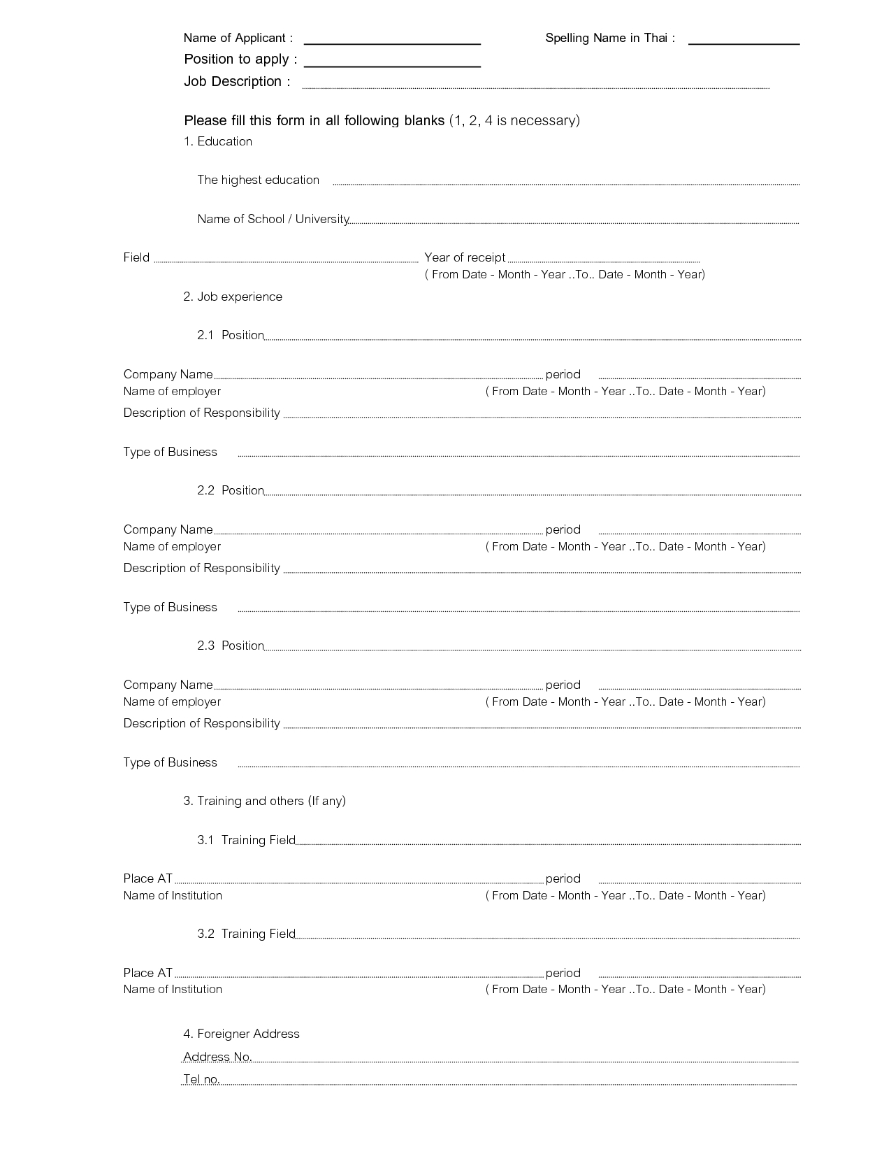 Fill In The Blank Resume - Tjfs-Journal for Fill In The Blank Template
