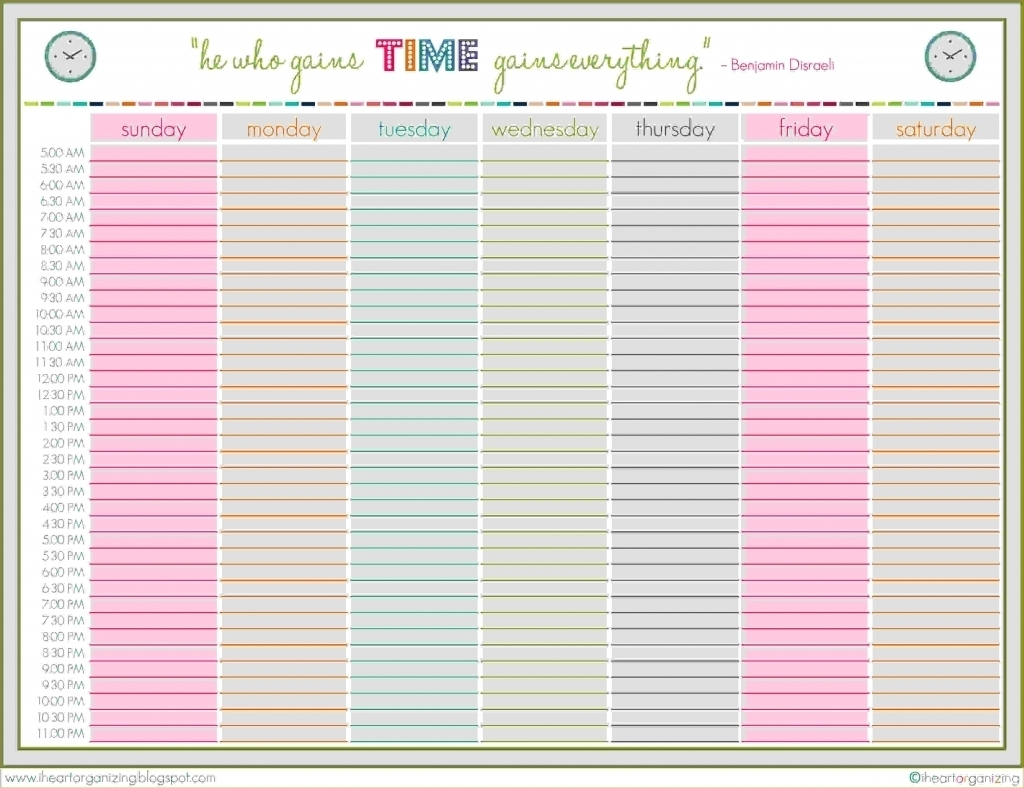 Finding Weekly Planner Starting At 5Am On The Web – Planner Template intended for Weekly Planner Printable 5 Am Start