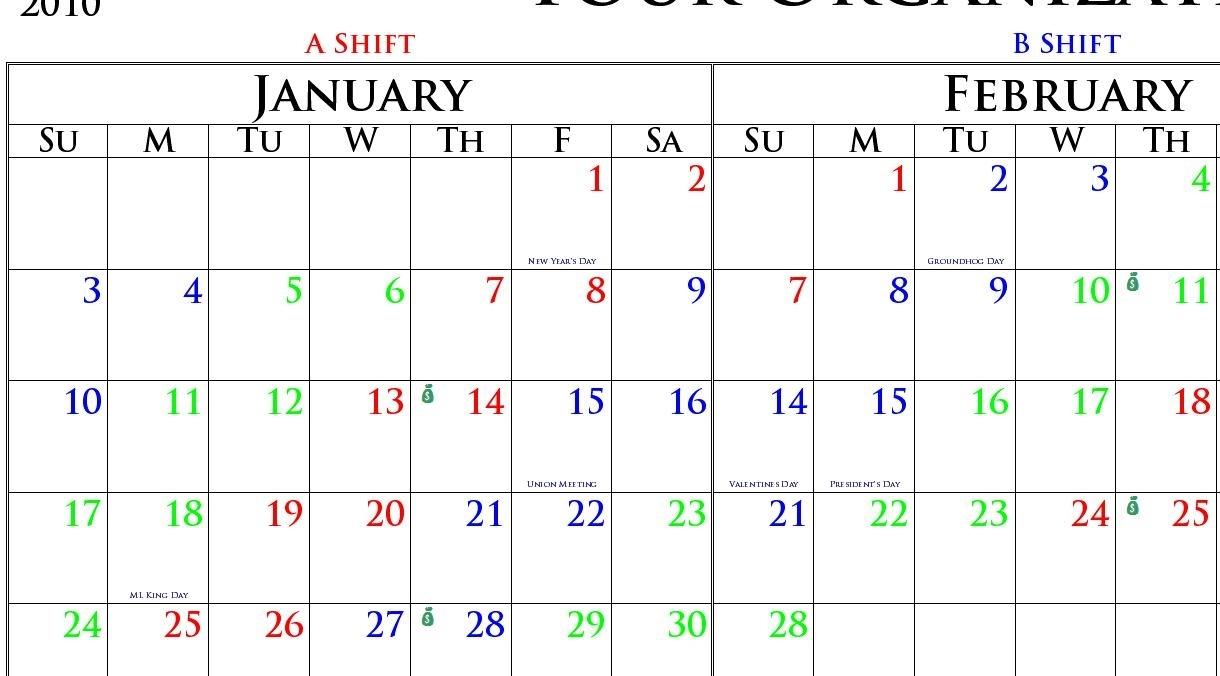 Firefighter Shift Calendar Day Planner Products Bw Printworks - Bw for Firefighter 24 48 Shift Calendar