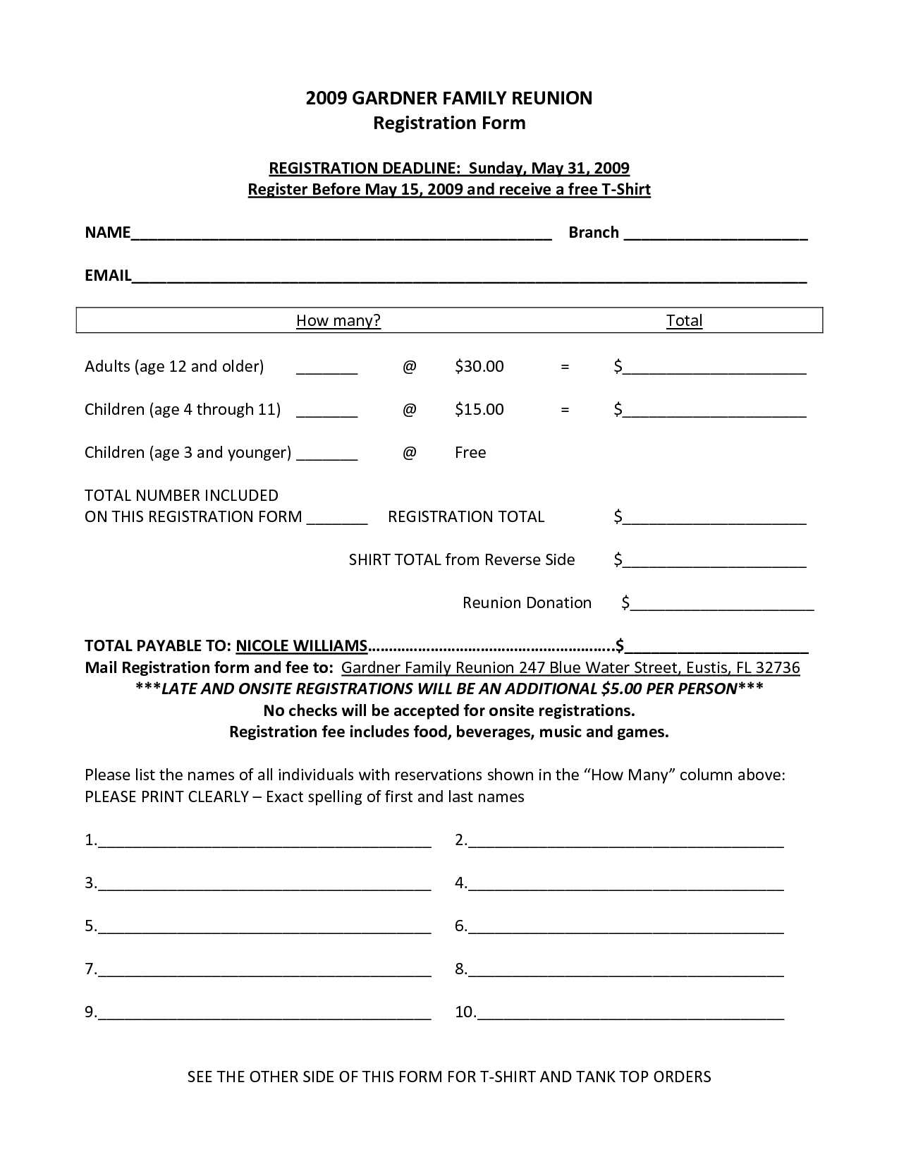 Form Summer Camp Registration Forms Template Frequently Used regarding Free Download Blank Summer Camp Application