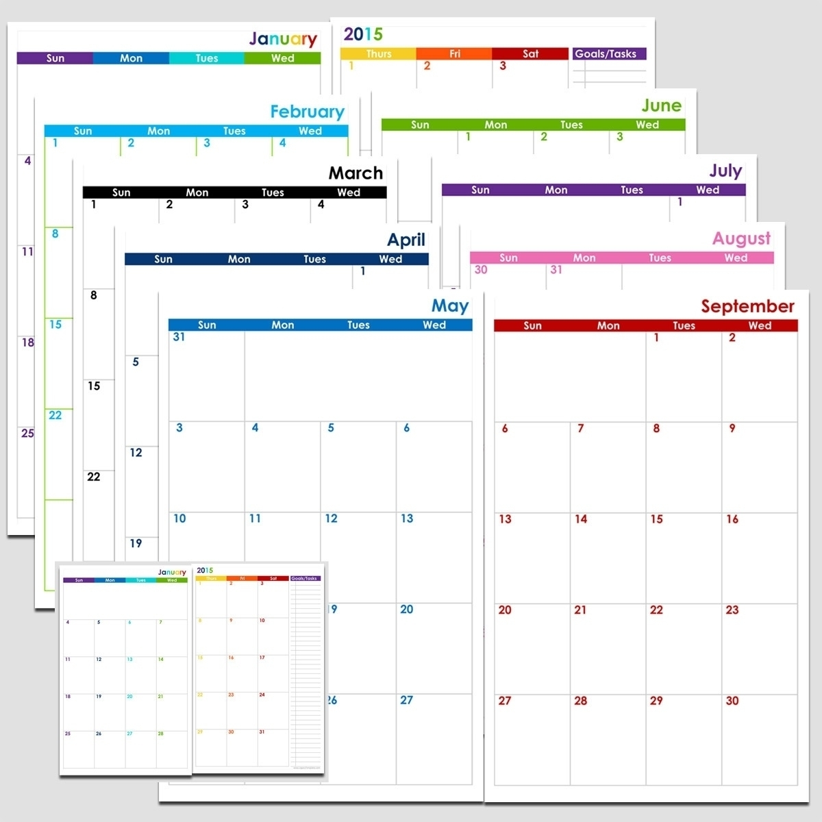 Free 2 Page Monthly Calendar Template • Printable Blank Calendar within 2 Page Monthly Calendar Printable Free