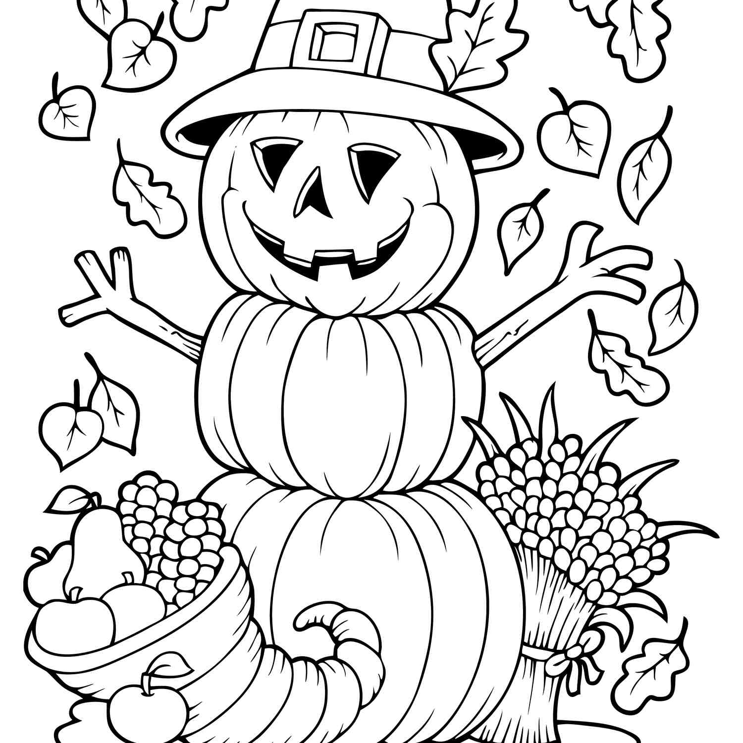 Free Autumn And Fall Coloring Pages within Grade R Cover Page Colouring Page