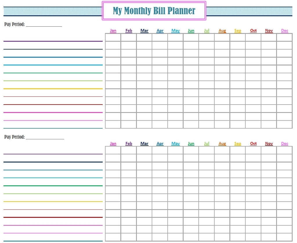 Free Bill Calendar | Printable Calendar Templates 2019 for Free Printable Monthly Bill Payment Calendar