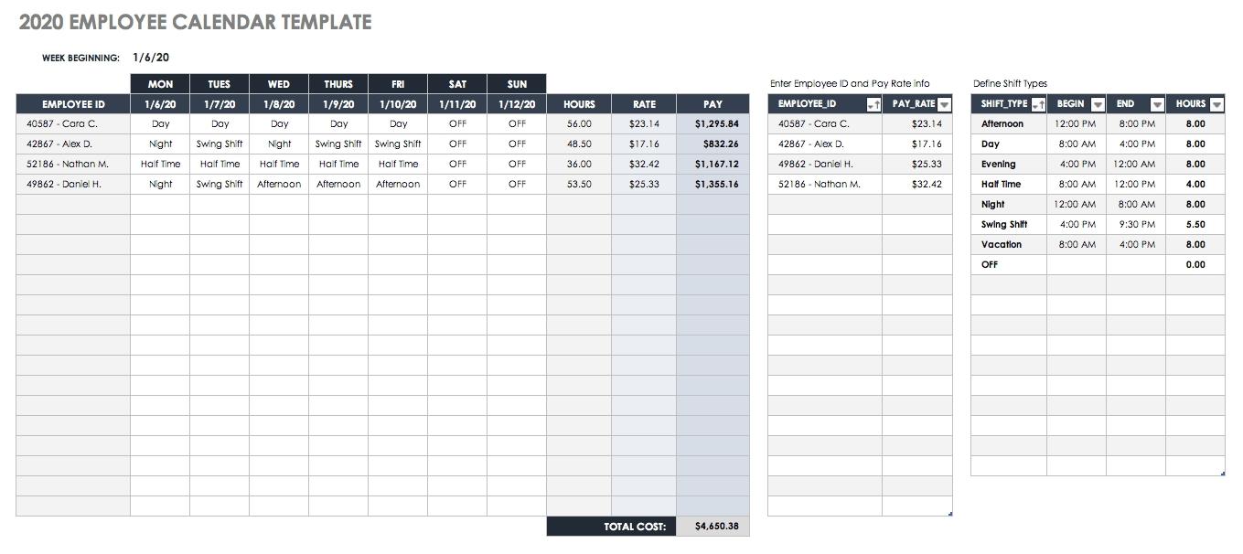 Free Blank Calendar Templates - Smartsheet intended for 12 Week Blank Calendar Printable