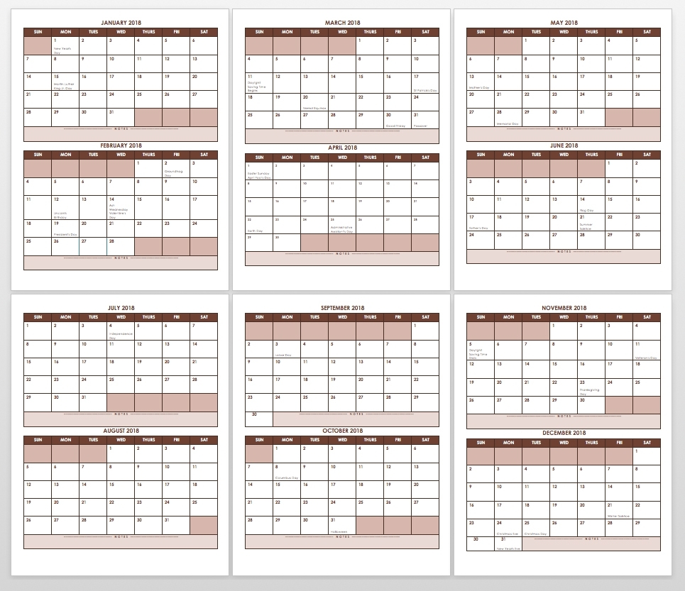 Free Blank Calendar Templates - Smartsheet pertaining to Monthly Calendar Monday Through Friday